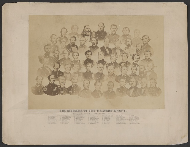 The officers of the C.S. Army & Navy / photographed and published by C.F. May, 519 8th Avenue, New York.