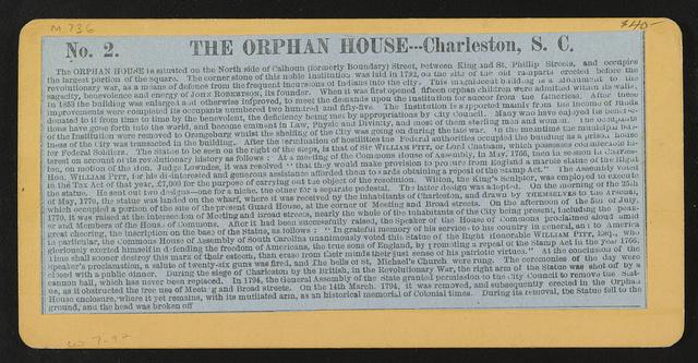 The Orphan House - Charleston, S.C.