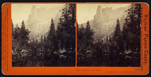 The Sentinel, 3270 feet, Yosemite Valley, Mariposa County, Cal.