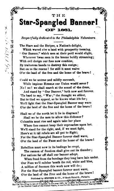 The star spangled banner! of 1861. Published by Stevens & Co., ... Phila