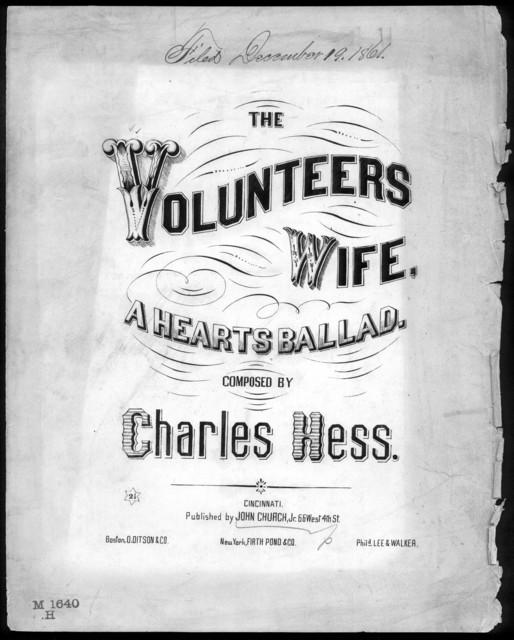 The  Volunteer's wife