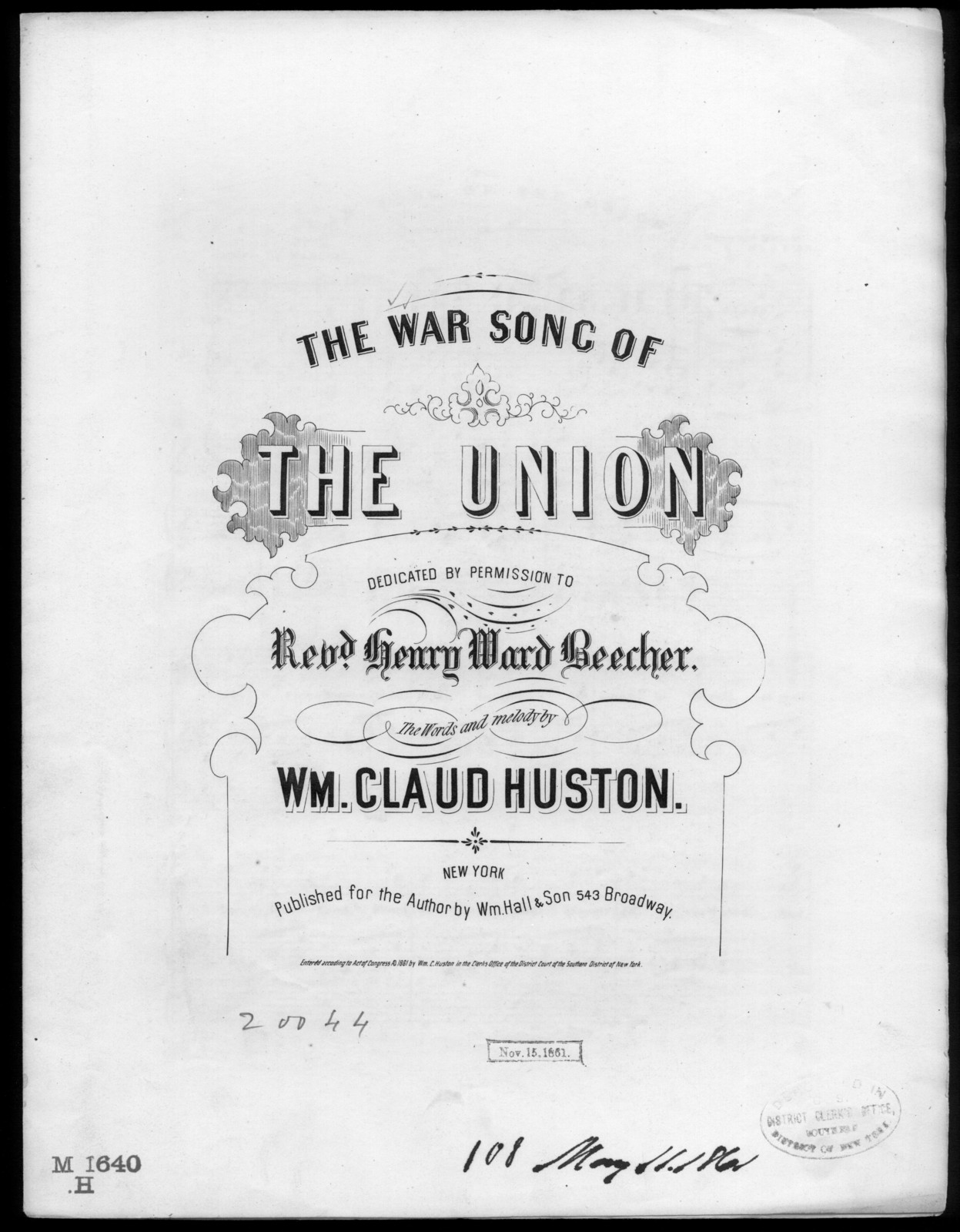The  War song of the Union