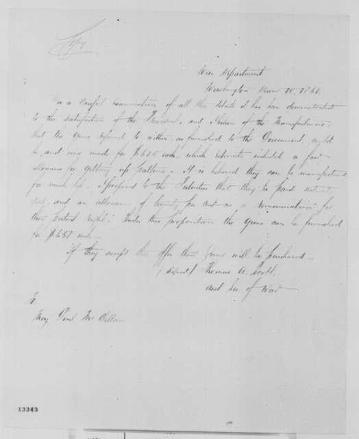 Thomas A. Scott to George B. McClellan, Tuesday, December 10, 1861  (Military affairs)