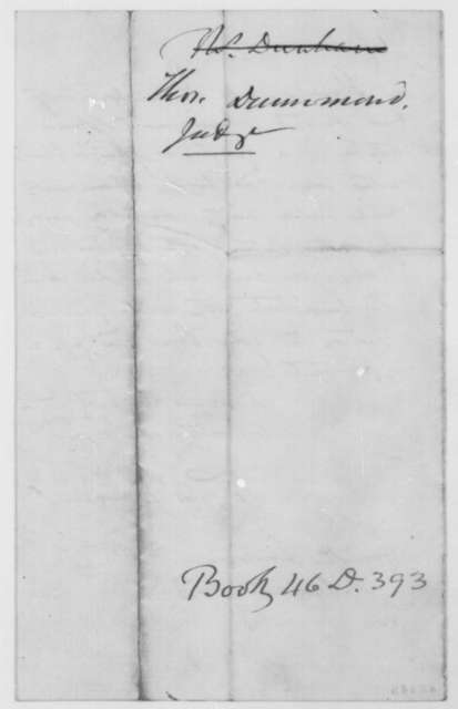 Thomas Drummond to Abraham Lincoln, Thursday, September 19, 1861  (Recommendation)