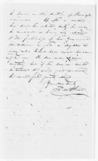 Thomas M. Howe to Salmon P. Chase, Monday, May 13, 1861  (Recommendation)
