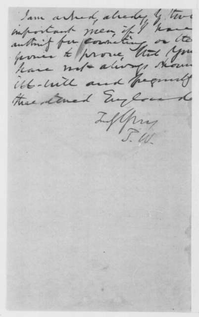 Thurlow Weed to William H. Seward, Wednesday, December 04, 1861  (Trent affair)