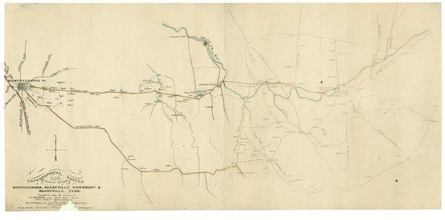 Topographical sketch of the country between Murfreesboro, Reedyville, Woodbury & Bradyville, Tenn. /
