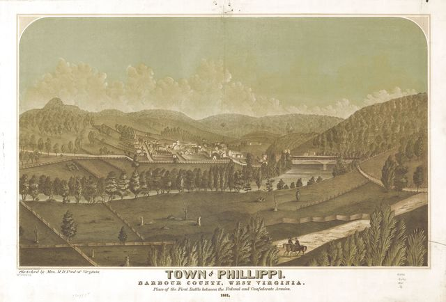 Town of Phillippi, Barbour County, West Virginia. 1861.