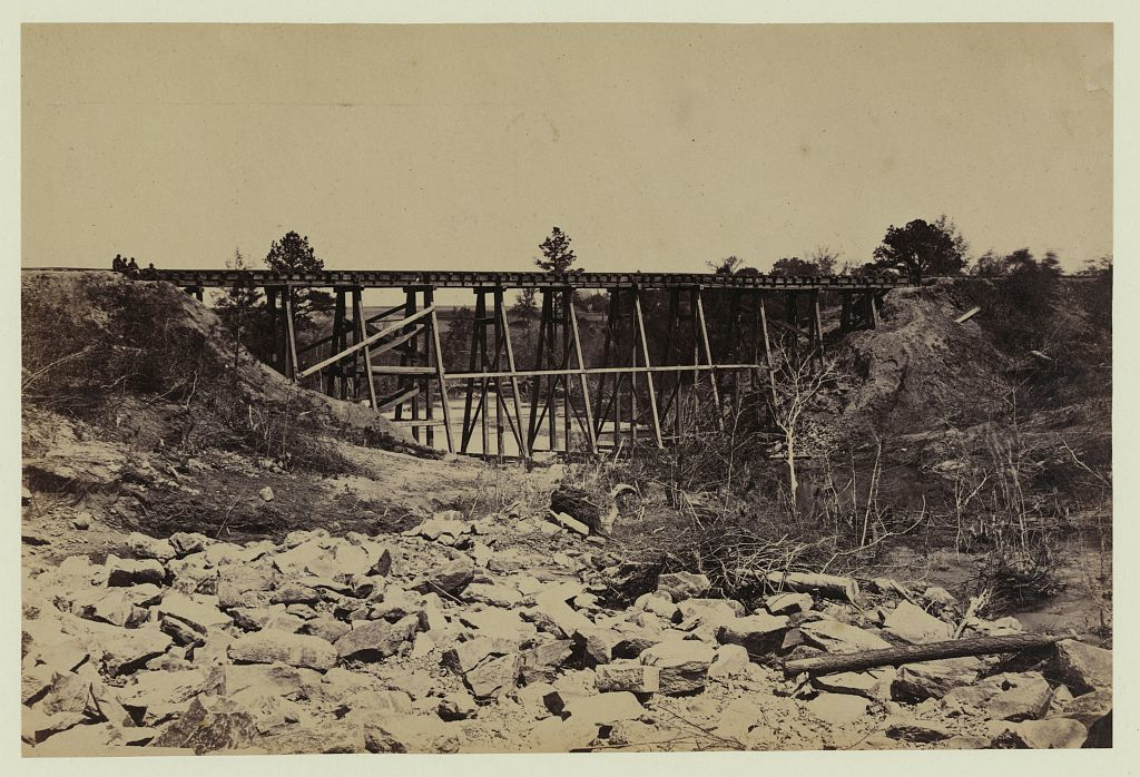 Trestle work (no. 1,) on City Point & Army R. R.