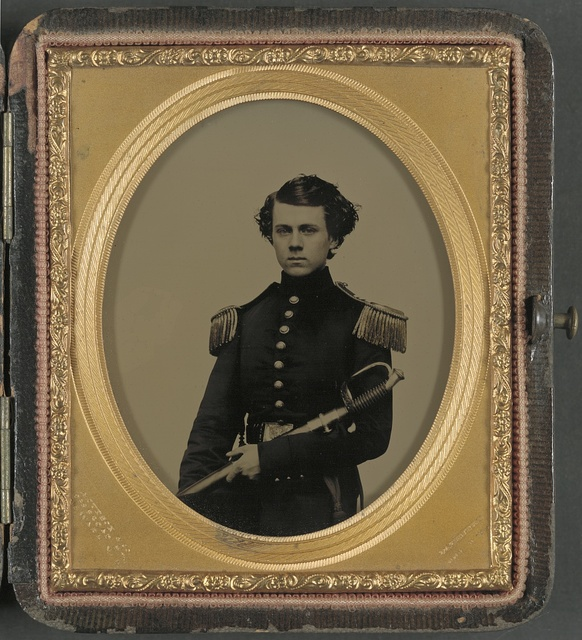 [Unidentified officer in Union uniform with sword] / A. Judson & Co., 238 Broad St., Newark, N.J.