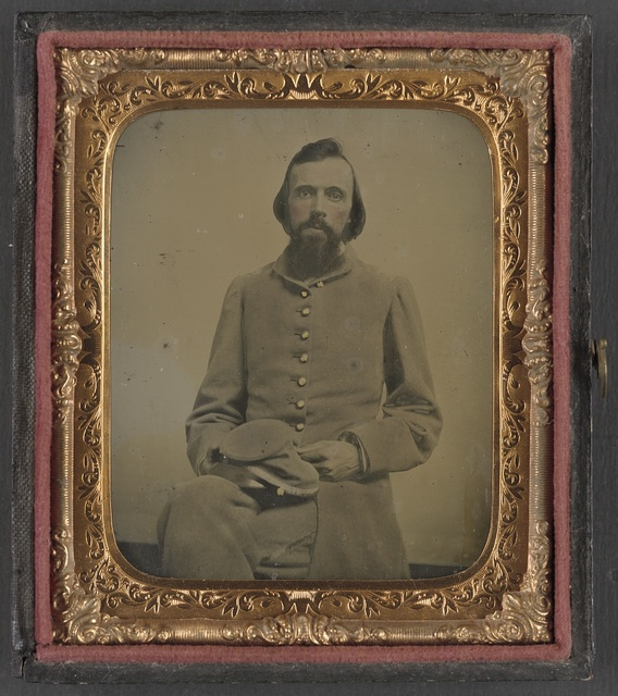 [Unidentified private in Confederate uniform]