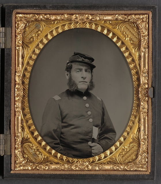 [Unidentified soldier in Union officers's uniform and Connecticut state seal buttons]