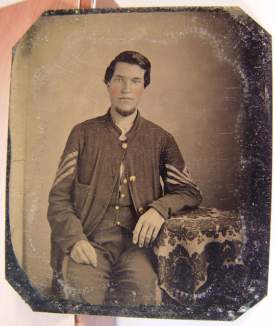 [Unidentified soldier in Union sergeant's sack coat]