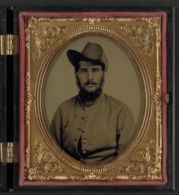 [Unidentified soldier in Union uniform with Massachusetts Volunteer Militia buttons]