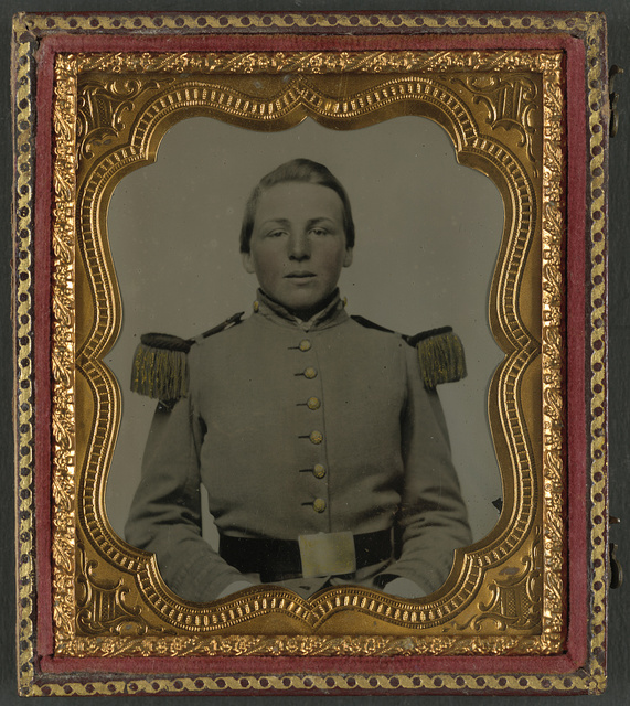 [Unidentified soldier in Virginia militia uniform]