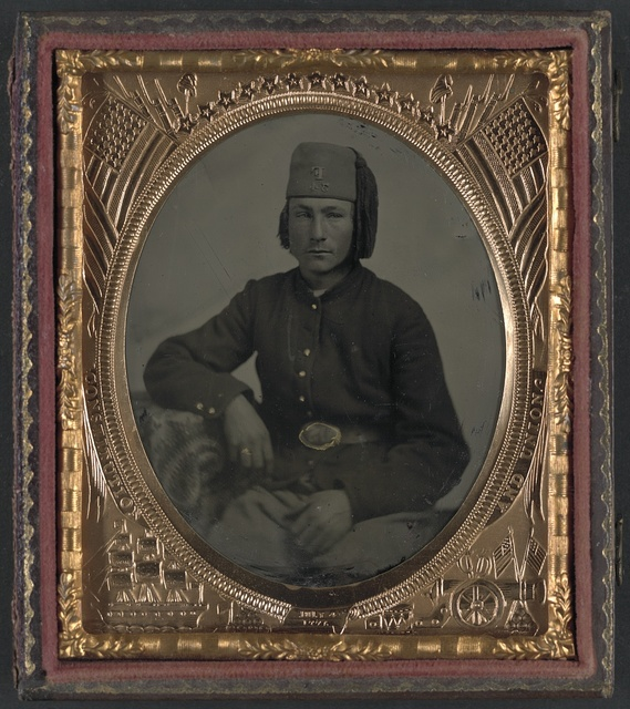 [Unidentified soldier of Company F, 34th Ohio Infantry Regiment or Piatt's Zouaves]