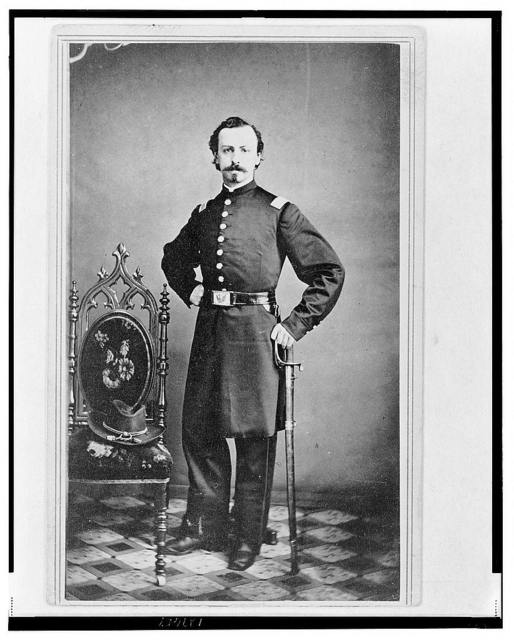 [Unidentified Union officer, full-length portrait, standing,  facing front]