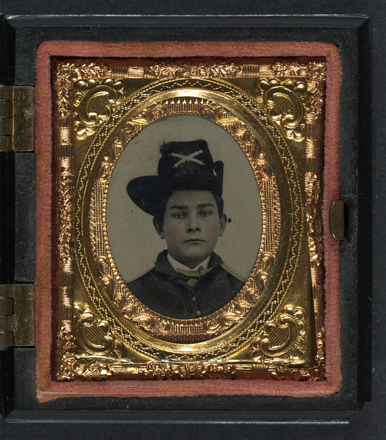 [Unidentified young soldier in Union uniform and artillery Hardee hat]