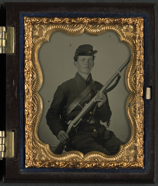 [Unidentified young soldier in Union uniform with musket]