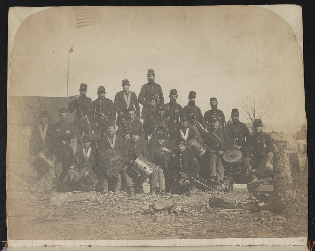 [Union fife and drum musicians probably at Camp Griffin, Langley, Virginia]