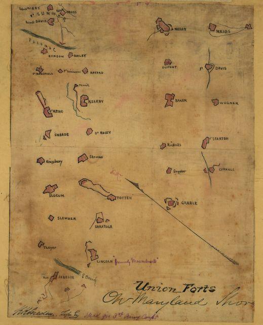 Union forts on Maryland shore