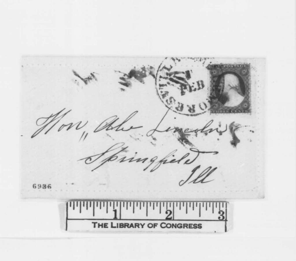 """Unknown.  """"H.F. Old Line Whig"""" to Abraham Lincoln, Thursday, January 31, 1861  (Preservation of Union)"""