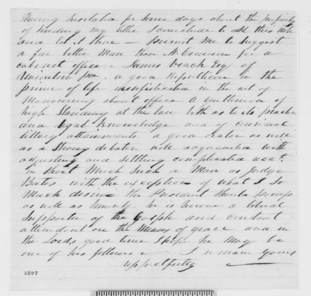 Unknown to Abraham Lincoln, Tuesday, January 01, 1861  (Fragment)