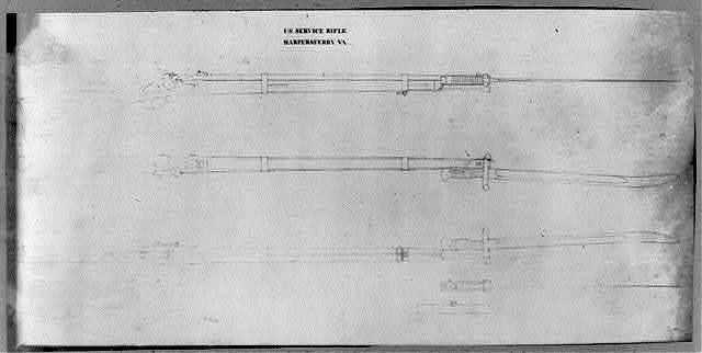 U.S. service rifle, Harpers Ferry, Va.