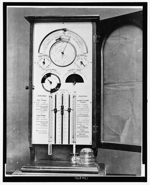 [ U.S. Signal Corp. barometer, made by L. Casella, London, England]