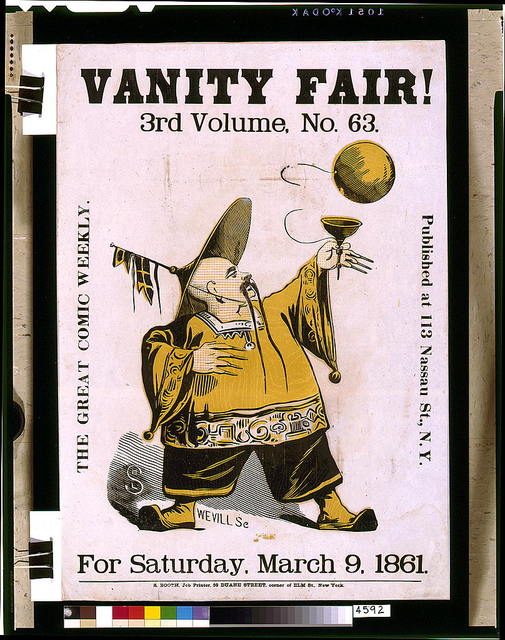 Vanity Fair! 3rd volume, no. 63, for Saturday, March 9, 1861 / HLS [monogram] ; Wevill sc.