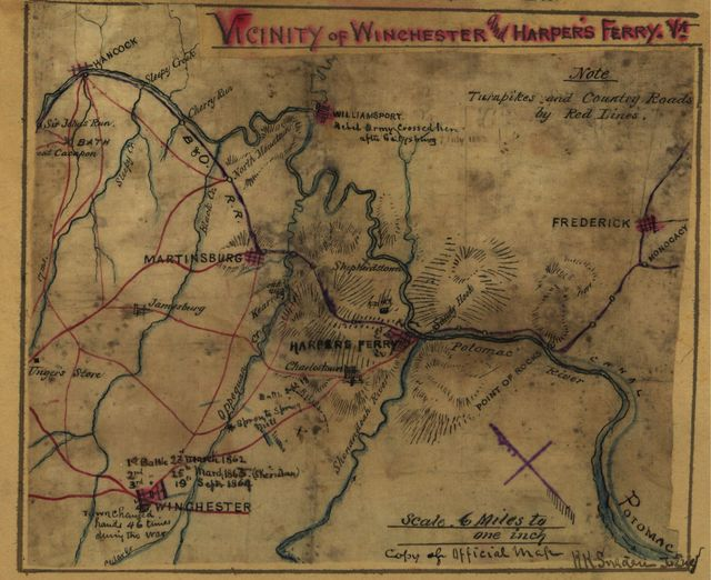 Vicinity of Winchester and Harper's Ferry, Va.