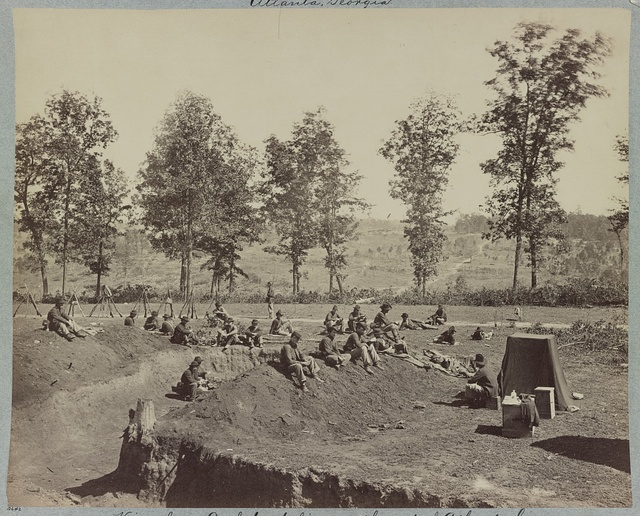 View from Confederate lines south-east of Atlanta, Ga.