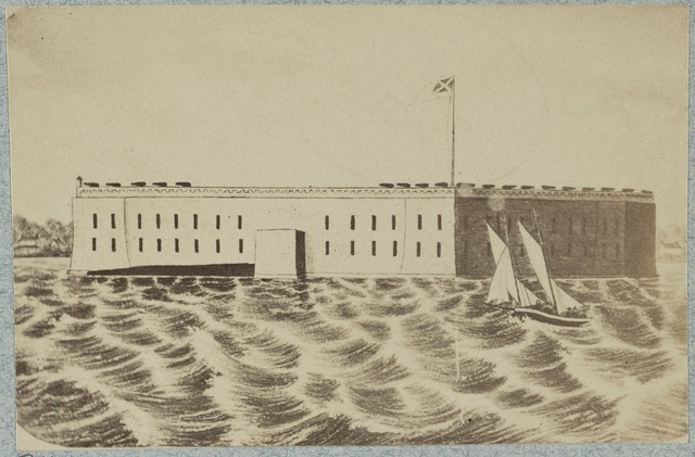 Views of Fort Sumter from drawings
