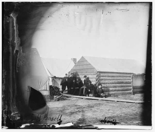 Virginia. Winter quarters of Capt. Bissel, Army of the Potomac