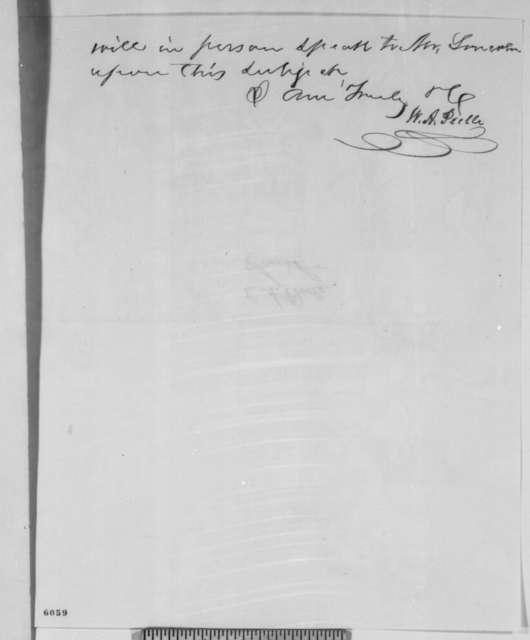 W. A. Peelle to Jesse K .Dubois, Thursday, January 10, 1861  (Supports Caleb Smith)