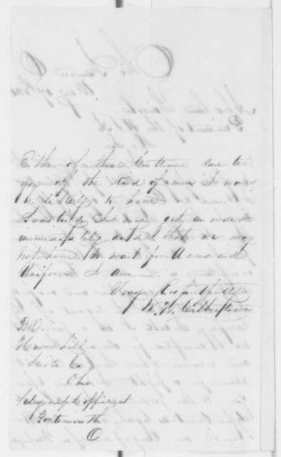 W. W. Culbertson to Abraham Lincoln, Friday, May 17, 1861  (Seeks acceptance of company into military service)