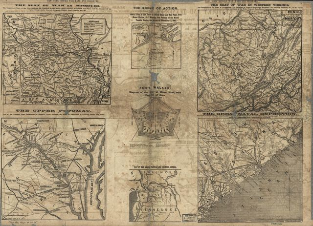 War maps and diagrams.