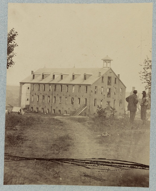 Warehouse at Fredericksburg, Va., used as a hospital for Federal wounded