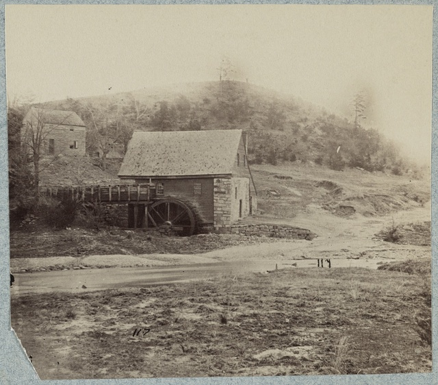 Welford's Mill on Hazel Run and the Telegraph Road (from a war time photograph)