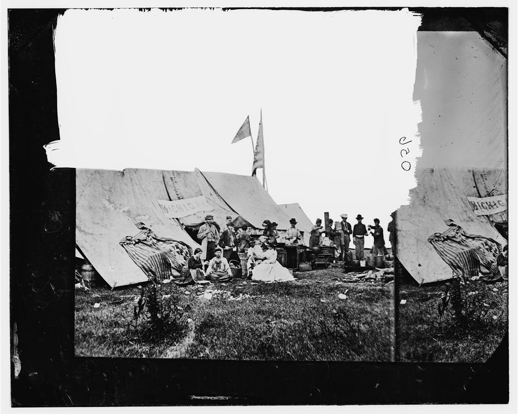 White House Landing, Virginia. Michigan & Pennsylvania Relief Association camp
