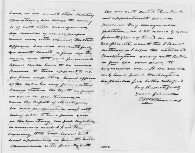 William B. Thomas to Abraham Lincoln, Thursday, September 26, 1861  (Requests assistance in purchasing supplies for Illinois troops)