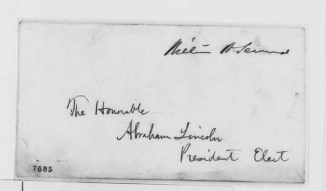William H. Seward to Abraham Lincoln, Saturday, March 02, 1861  (Declines cabinet position)