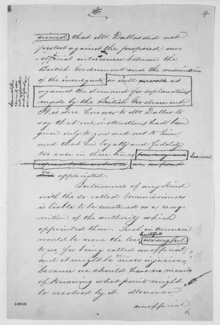 William H. Seward to Charles F. Adams, Tuesday, May 21, 1861  (Instructions on how to deal with the British; with revisions in Lincoln's hand)