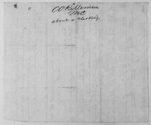 William R. Morrison to Abraham Lincoln, 1861-65  (Appointment for Jacob Fouke)