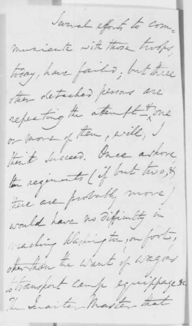 Winfield Scott to Abraham Lincoln, Monday, April 22, 1861  (Report on military affairs)