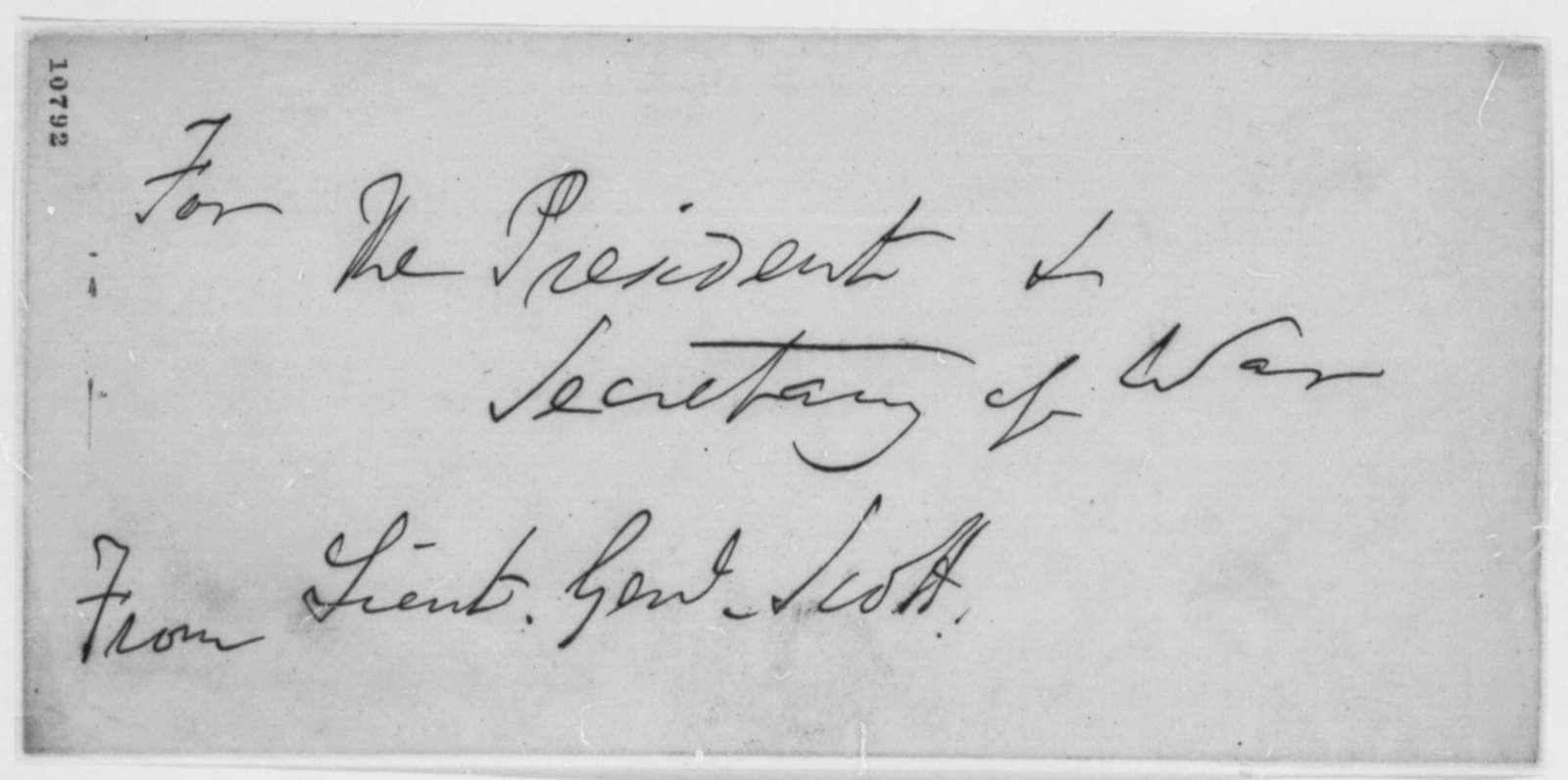 Winfield Scott to Robert Patterson, Thursday, July 18, 1861  (Instructions)