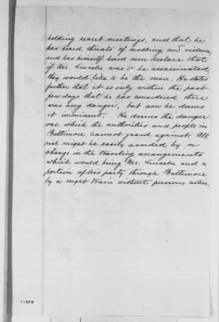 Winfield Scott to William H. Seward, Thursday, February 21, 1861  (Introduces Charles P. Stone)