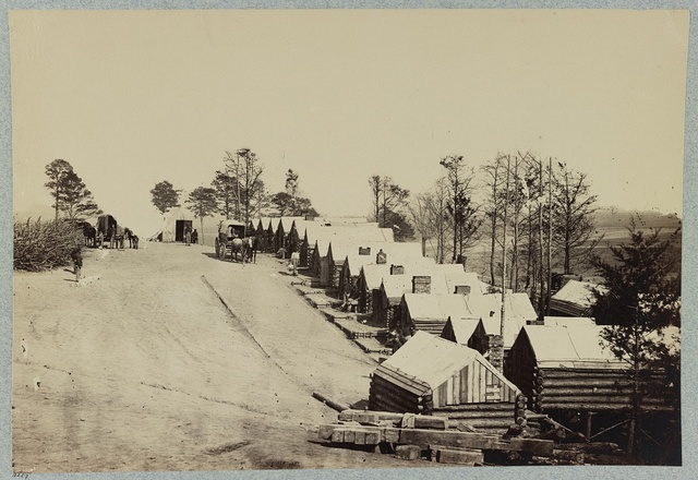 Winter quarters at Fort Brady, James River, Va. near Dutch Gap Canal