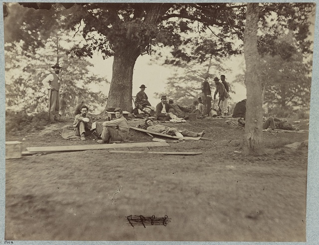 Wounded soldiers at hospital in Fredericksburg, Va.
