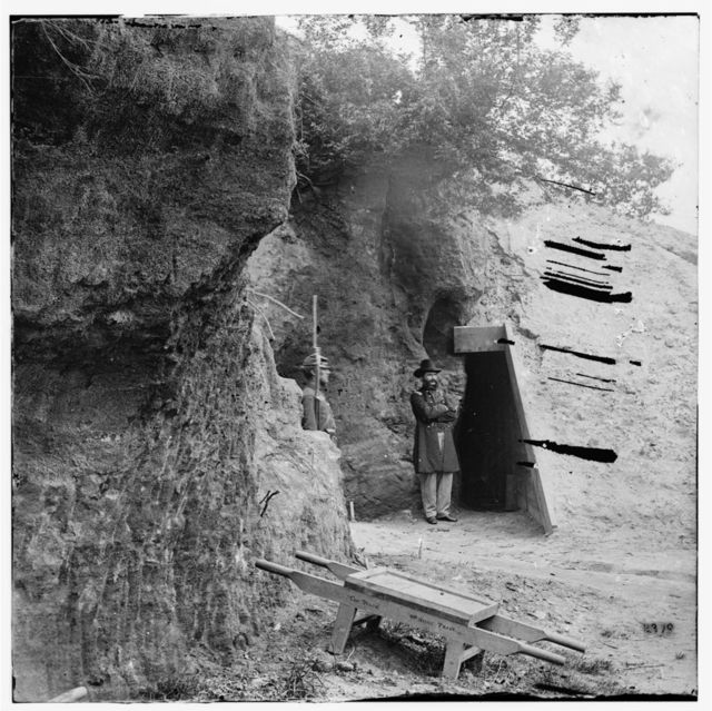 Yorktown, Virginia. Cornwallis cave. Used as a powder magazine by the Confederates